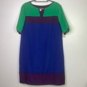 COLDWATER CREEK Colorblock Shift Dress NWT 14